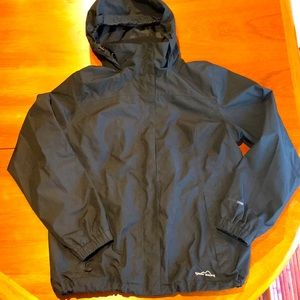 Eddie Bauer WeatherEdge black rain coat XL